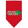 Mirage Pet Products Proud to be Irish Screen Print Bandana Red Small