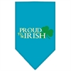 Mirage Pet Products Proud to be Irish Screen Print Bandana Turquoise Large