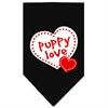 Mirage Pet Products Puppy Love Screen Print Bandana Black Small