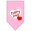Mirage Pet Products Puppy Love Screen Print Bandana Light Pink Small