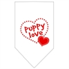 Mirage Pet Products Puppy Love Screen Print Bandana White Large