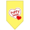 Mirage Pet Products Puppy Love Screen Print Bandana Yellow Large
