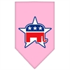 Mirage Pet Products Republican Screen Print Bandana Light Pink Small
