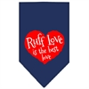 Mirage Pet Products Ruff Love Screen Print Bandana Navy Blue Small