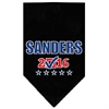 Mirage Pet Products Sanders Checkbox Election Screenprint Bandana Black Small