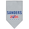 Mirage Pet Products Sanders Checkbox Election Screenprint Bandana Grey Small