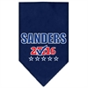 Mirage Pet Products Sanders Checkbox Election Screenprint Bandana Navy Blue Small