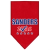 Mirage Pet Products Sanders Checkbox Election Screenprint Bandana Red Large