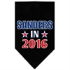 Mirage Pet Products Sanders in 2016 Election Screenprint Bandanas Black Large