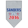 Mirage Pet Products Sanders in 2016 Election Screenprint Bandanas Grey Large
