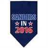 Mirage Pet Products Sanders in 2016 Election Screenprint Bandanas Navy Blue Small