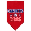 Mirage Pet Products Sanders in 2016 Election Screenprint Bandanas Red Small