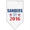 Mirage Pet Products Sanders in 2016 Election Screenprint Bandanas White Small