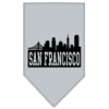 Mirage Pet Products San Francisco Skyline Screen Print Bandana Grey Large