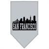 Mirage Pet Products San Francisco Skyline Screen Print Bandana Grey Small