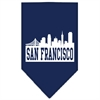 Mirage Pet Products San Francisco Skyline Screen Print Bandana Navy Blue large
