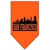 Mirage Pet Products San Francisco Skyline Screen Print Bandana Orange Small