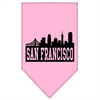 Mirage Pet Products San Francisco Skyline Screen Print Bandana Light Pink Large