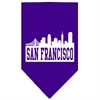 Mirage Pet Products San Francisco Skyline Screen Print Bandana Purple Large