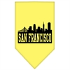 Mirage Pet Products San Francisco Skyline Screen Print Bandana Yellow Large