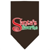 Mirage Pet Products Santas Favorite Screen Print Pet Bandana Cocoa Size Large