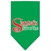Mirage Pet Products Santas Favorite Screen Print Pet Bandana Emerald Green Size Large