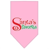 Mirage Pet Products Santas Favorite Screen Print Pet Bandana Light Pink Size Large