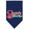 Mirage Pet Products Santas Favorite Screen Print Pet Bandana Navy Size Large