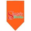 Mirage Pet Products Santas Favorite Screen Print Pet Bandana Orange Size Small