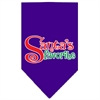 Mirage Pet Products Santas Favorite Screen Print Pet Bandana Purple Size Small