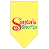 Mirage Pet Products Santas Favorite Screen Print Pet Bandana Yellow Size Large