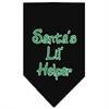 Mirage Pet Products Santa Lil Helper Screen Print Bandana Black Small