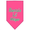 Mirage Pet Products Santa Lil Helper Screen Print Bandana Bright Pink Large