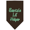 Mirage Pet Products Santa Lil Helper Screen Print Bandana Cocoa Large