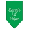 Mirage Pet Products Santa Lil Helper Screen Print Bandana Emerald Green Large