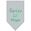 Mirage Pet Products Santa Lil Helper Screen Print Bandana Grey Large