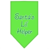 Mirage Pet Products Santa Lil Helper Screen Print Bandana Lime Green Large