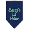 Mirage Pet Products Santa Lil Helper Screen Print Bandana Navy Blue Small