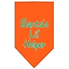 Mirage Pet Products Santa Lil Helper Screen Print Bandana Orange Small