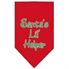 Mirage Pet Products Santa Lil Helper Screen Print Bandana Red Small