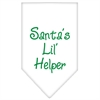 Mirage Pet Products Santa Lil Helper Screen Print Bandana White Small