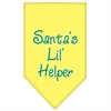 Mirage Pet Products Santa Lil Helper Screen Print Bandana Yellow Large
