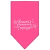 Mirage Pet Products Seasons Greetings Screen Print Bandana Bright Pink Small