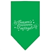 Mirage Pet Products Seasons Greetings Screen Print Bandana Emerald Green Small