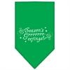 Mirage Pet Products Seasons Greetings Screen Print Bandana Emerald Green Large