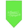 Mirage Pet Products Seasons Greetings Screen Print Bandana Lime Green Small