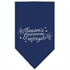 Mirage Pet Products Seasons Greetings Screen Print Bandana Navy Blue Small