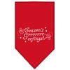 Mirage Pet Products Seasons Greetings Screen Print Bandana Red Large