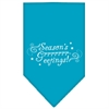 Mirage Pet Products Seasons Greetings Screen Print Bandana Turquoise Small