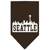 Mirage Pet Products Seattle Skyline Screen Print Bandana Cocoa Small